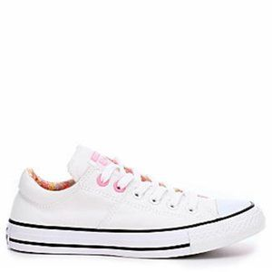 White Converse Madison floral OX